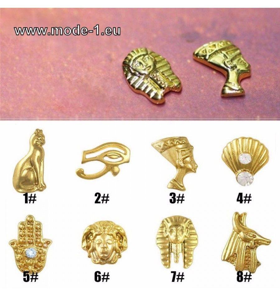 Nagel Schmuck mit Ägyptische Pharao Cleopatra Design | Brautkleider ...