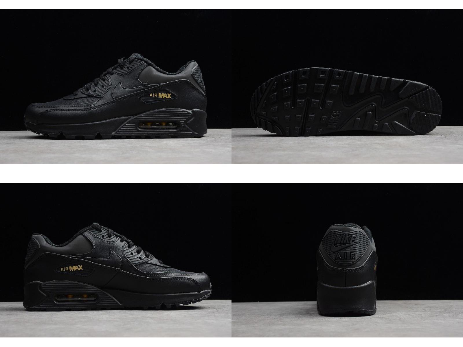 2018 Nike Air Max 90 Premium Black Gold 700155 011