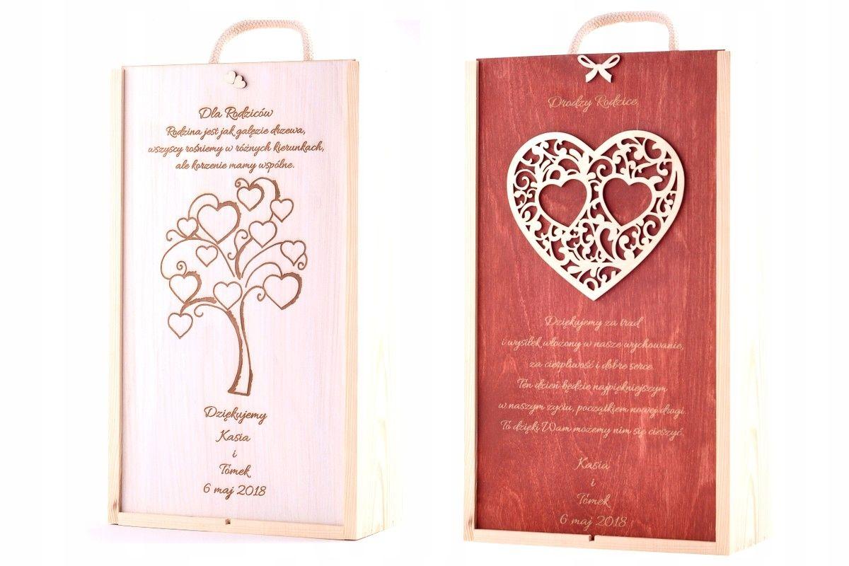 Skrzynka Grawer Pudelko Na Dwa Wina Prezent Slub 7734828763 Oficjalne Archiwum Allegro Wine Gift Boxes Decoupage Box Wood Wine Box