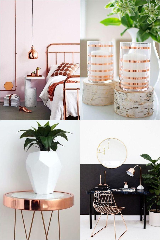 Resultado de imagem para decoração cobre | Decoração | Pinterest