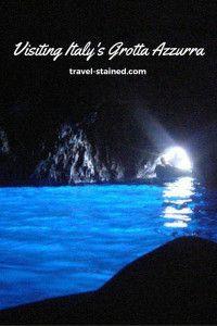 Visiting Italy's Grotta Azzurra. #travel #italy #grottaazzura #bluegrotto #capri #italytravel #travelblogger #travelblog #wanderlust #naples #sorrento