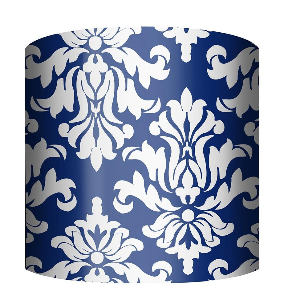 Ptm Images 10 0028 Damask 10 Tall X 12 Wide Cylinder Fabric Lamp Shade Blue Lamp Shade Damask Ptm Images