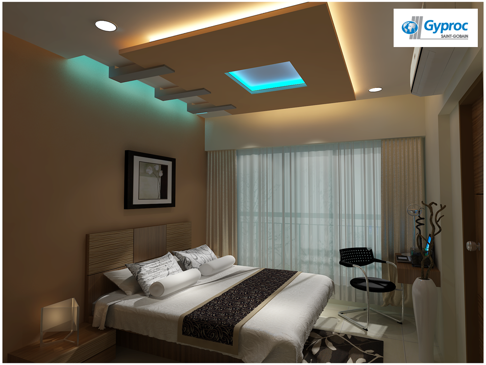 Gyproc #falseceiling can completely change your bedroom ...