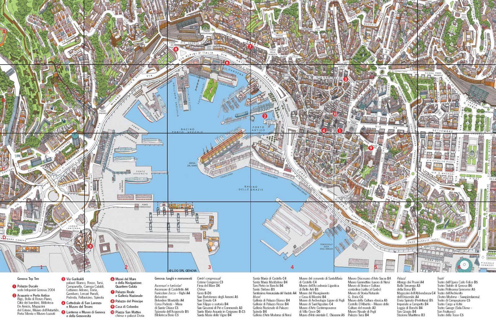 Genoa City Travel Map Mapsof Net Avec Images Carte