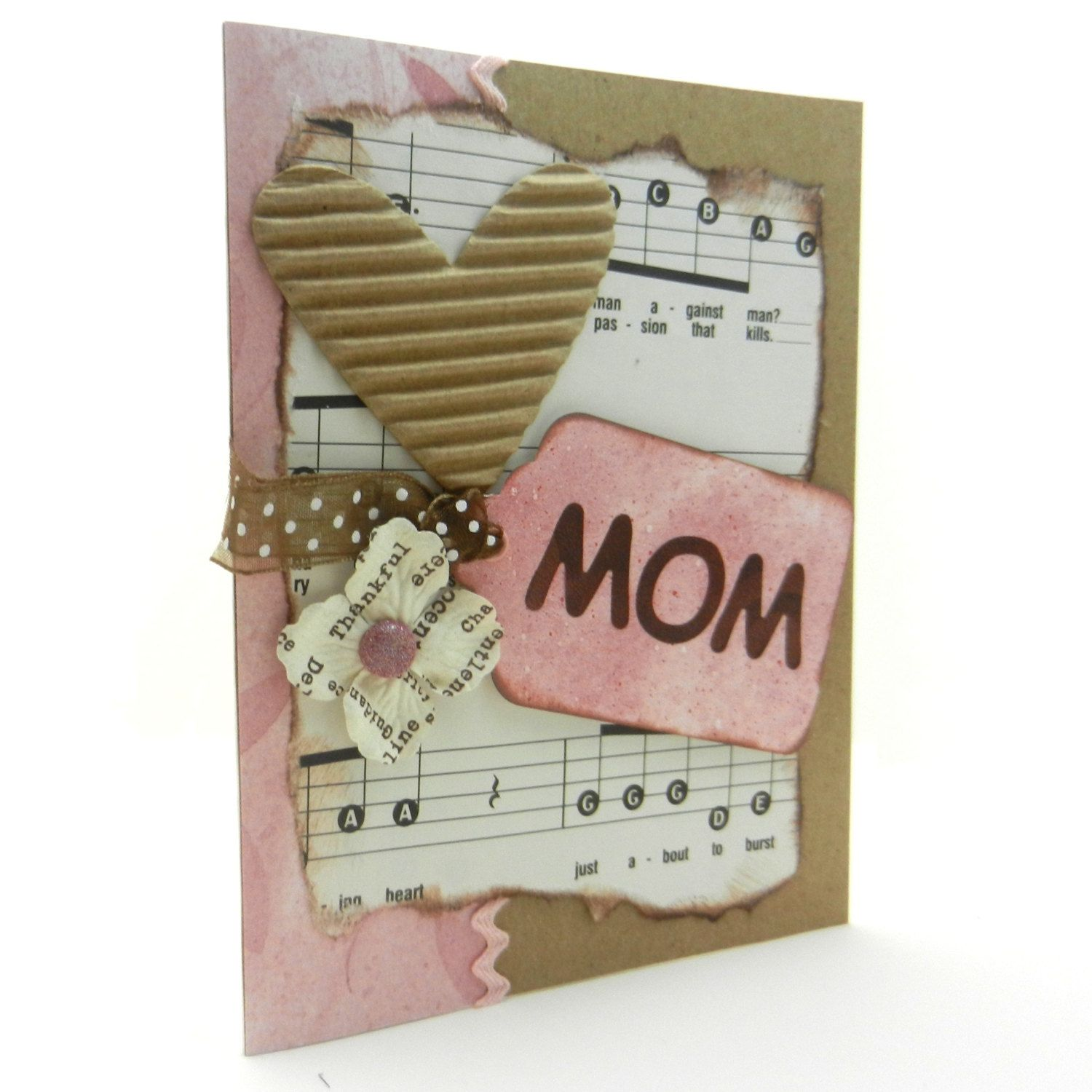 Mothers Day Card Handmade Music Singing Cards Handmade Valentines Cards Greeting Cards Handmade