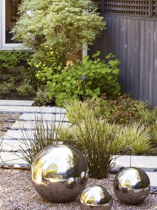 deko gräser im garten pflastersteine weg schilf | garten, Best garten ideen