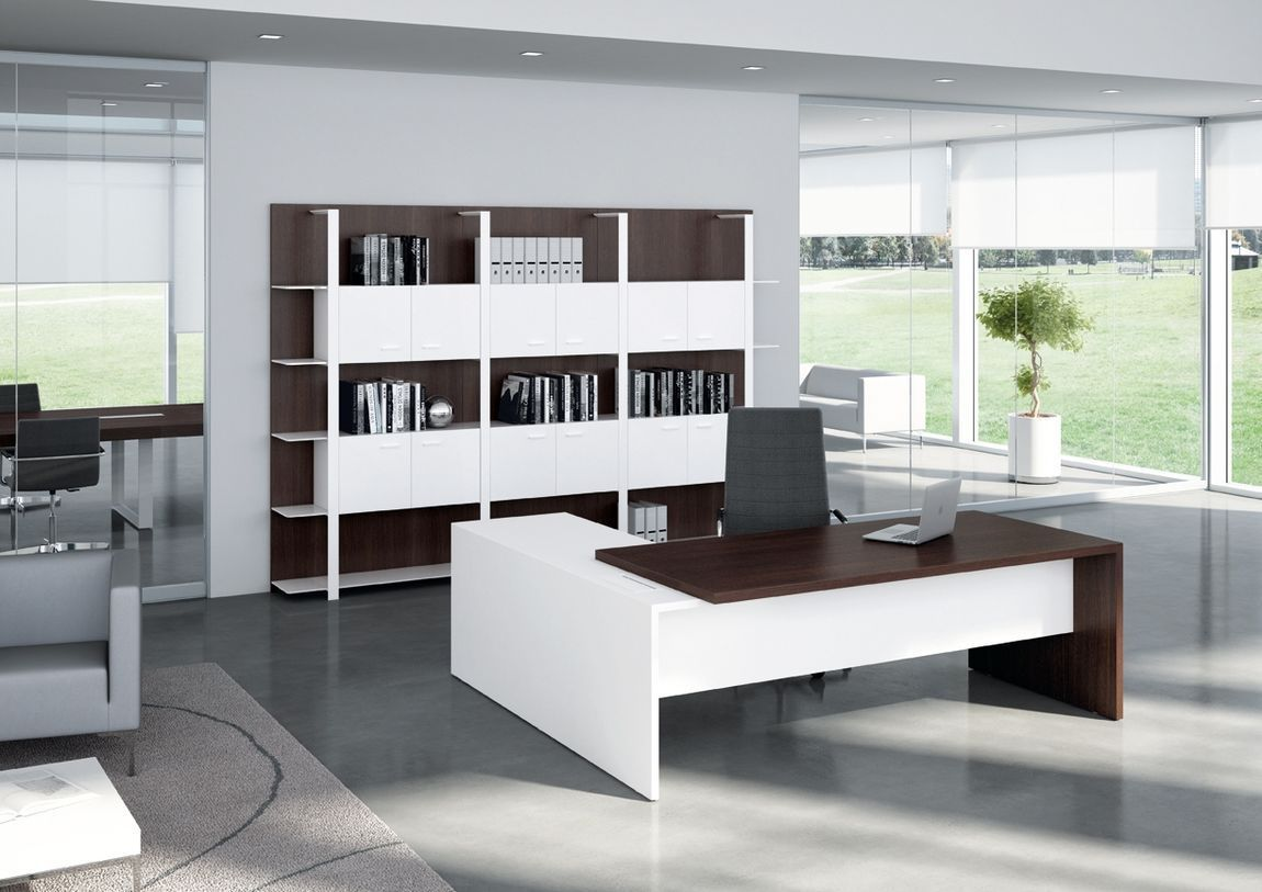 20 Contemporary Executive Office Desk Real Wood Home Office