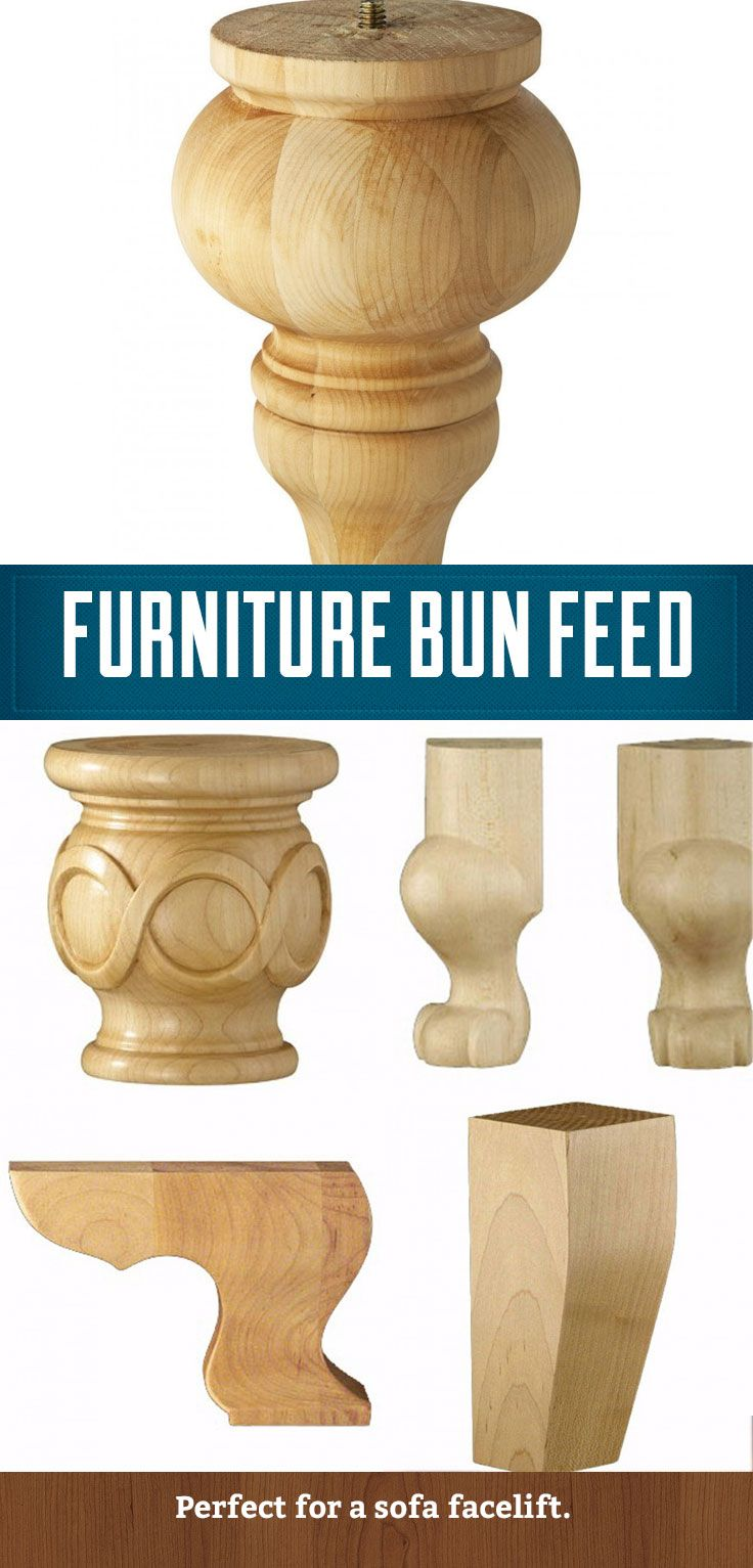 Wooden Bun Feet, Perfect For Adding Class To Dull Chairs And Sofas. Http: