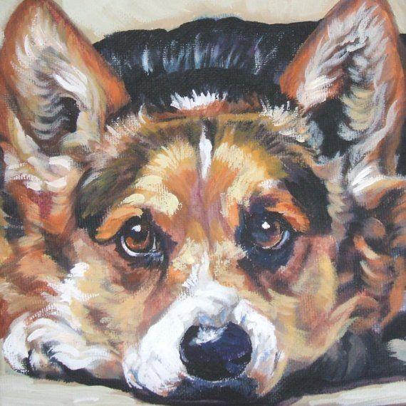 Hey I Found This Really Awesome Etsy Listing At Http Www Etsy Com Listing 62349711 Pembroke Welsh Corgi Art Portr Dibujos De Animales Dibujos De Perros Arte