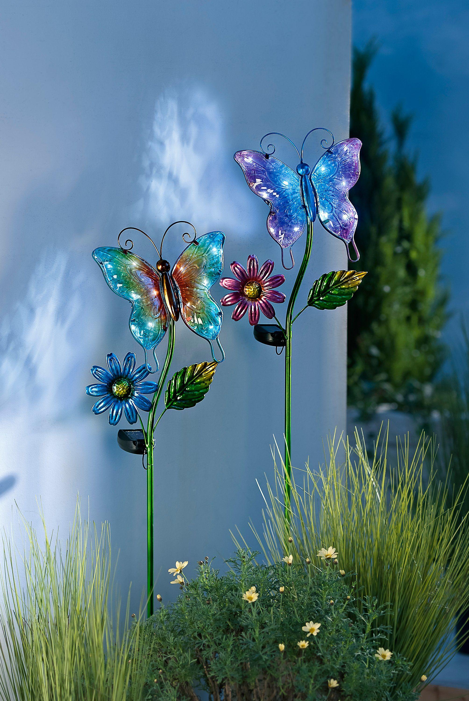 Solar Gartenstecker Farfalla 2er Set Bestellen Weltbild De Gartenstecker Garten Vorgarten