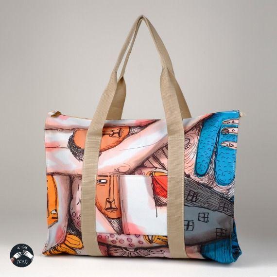 #weekendbag , #sportsbag, #bigbag , #bagdesign , #beachbag , #beachtotebag , #colorful , #illustration
