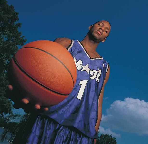 Rare Photos Of Tracy Mcgrady Tracy Mcgrady Nba Pictures Basketball Wallpaper
