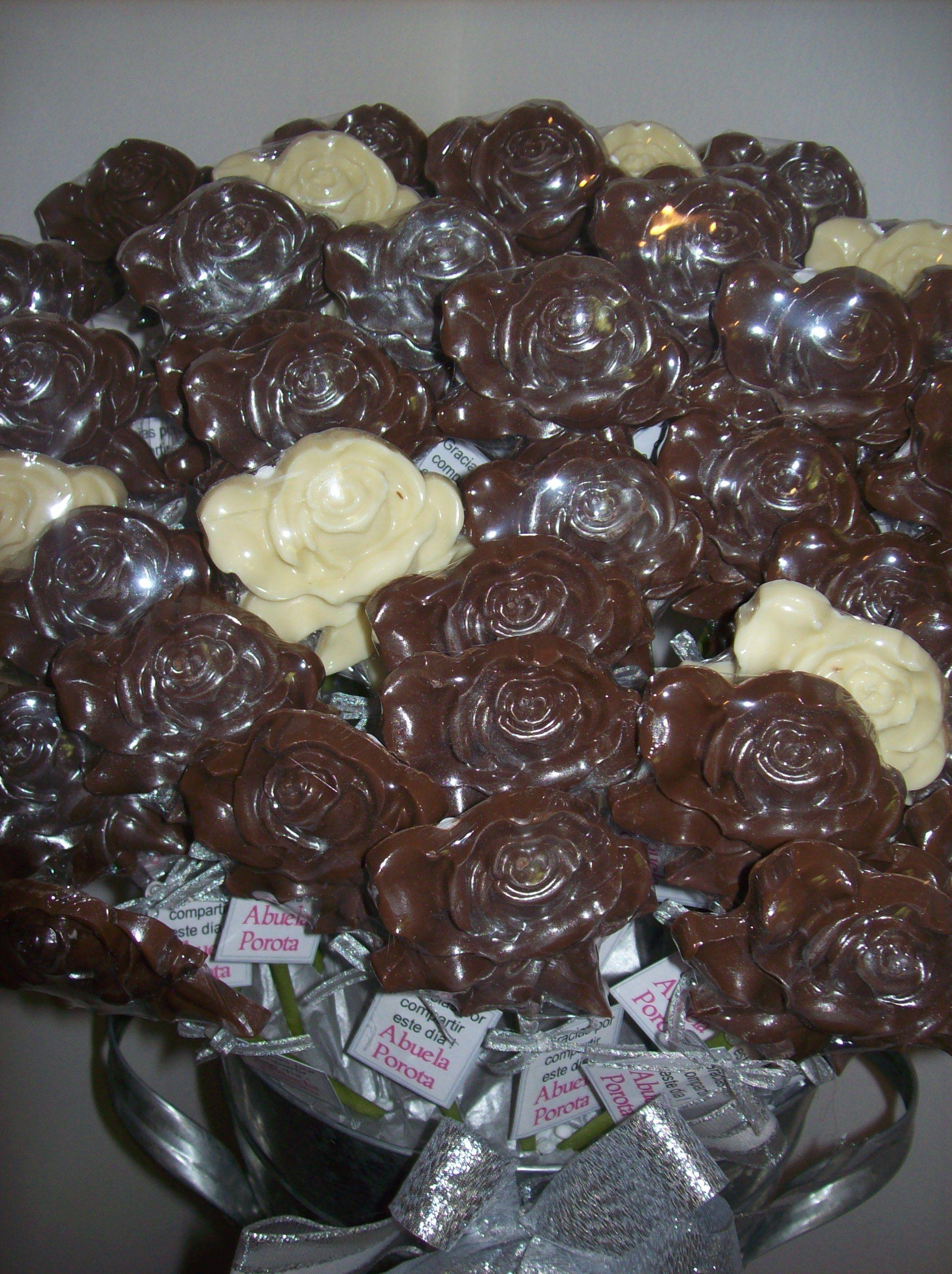 Rosas de chocolate chocolate flores y corazones rosas - Flores para cocinar ...