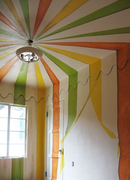 Circus Room Trompe L Oeil Pictures Tent Room Modern Mural