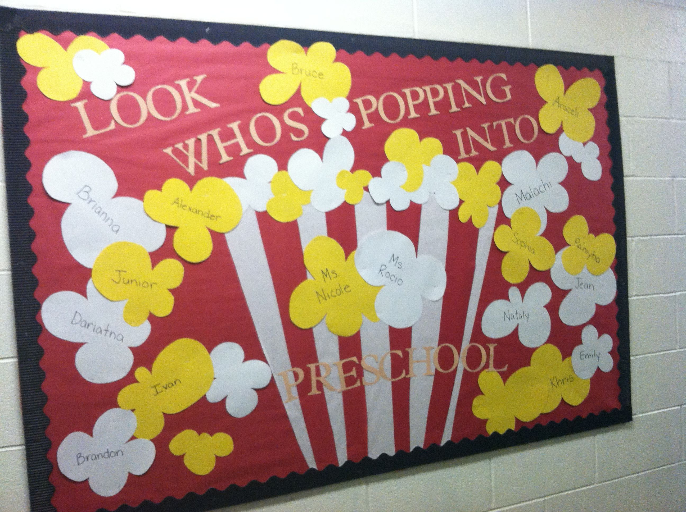 Beginning Of The Year Bulletin Board Look Who S Popping