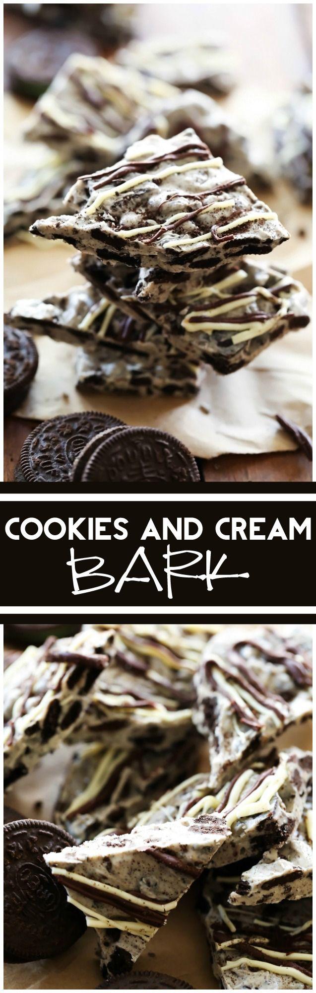 Cookies and Cream Bark #cookiesandcreamcake