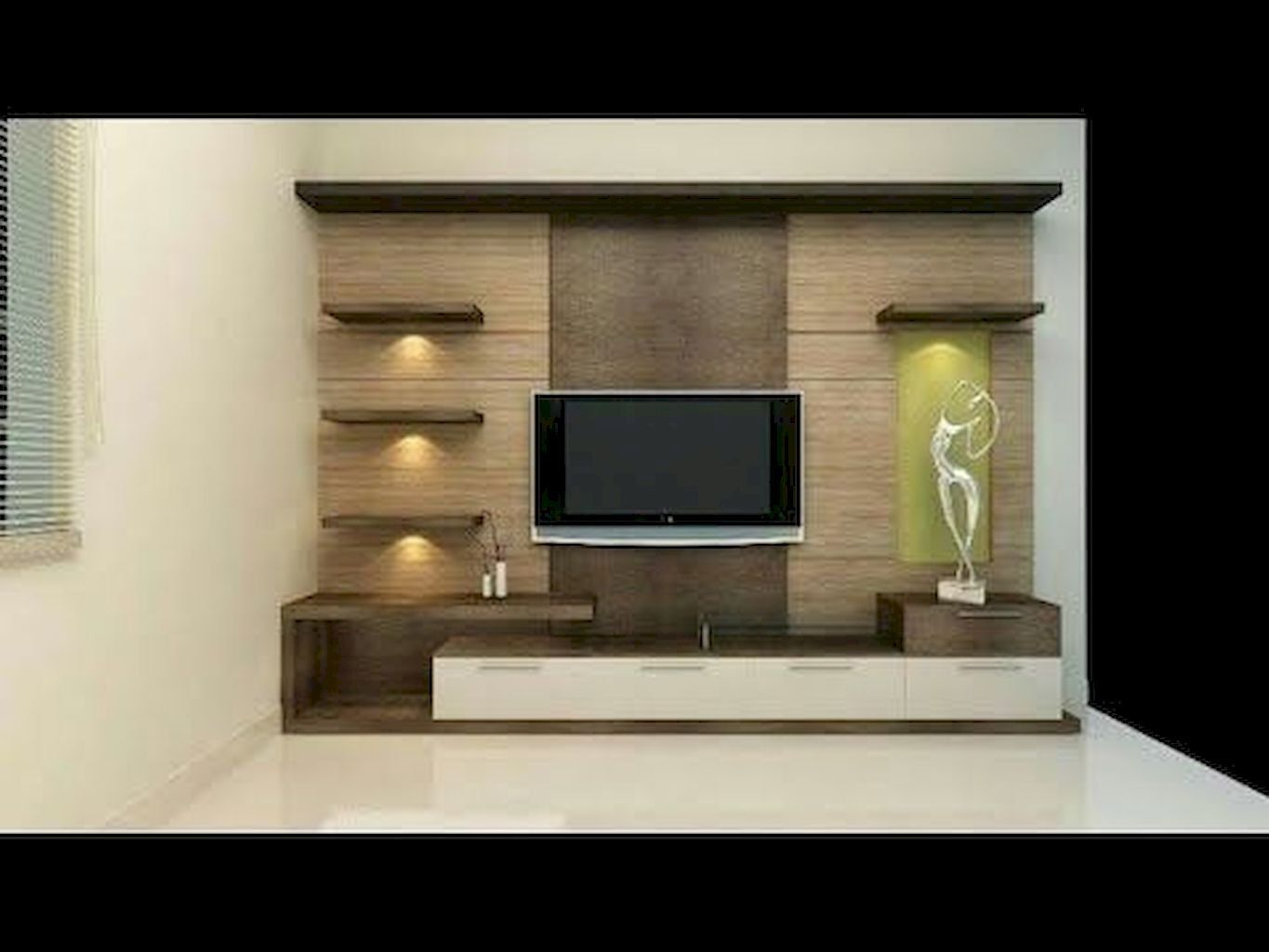 Wondrous 121 Simple Cool Creative Wall Decorating Ideas That Are Easy To Apply In Your Home Https Modern Tv Wall Units Tv Wall Design Simple Tv Unit Design