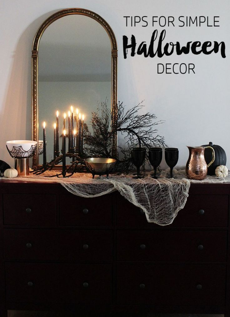Re-creating our Simple Halloween Table HOLIDAY / Halloween - how to make simple halloween decorations