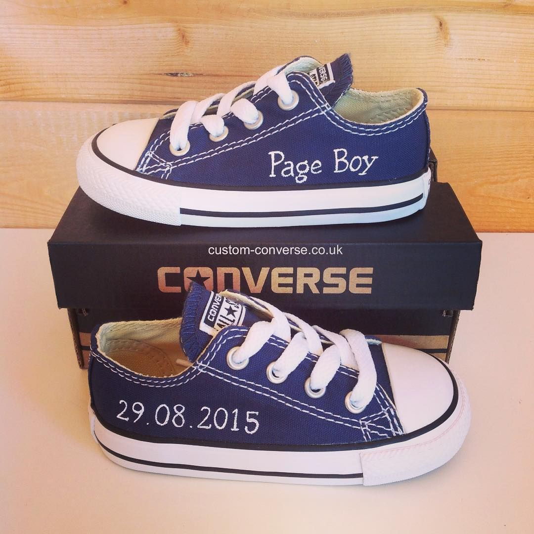 9d262f916d2f Kids Page Boy personalised low top converse converse customconverse  personalisedconversehellip