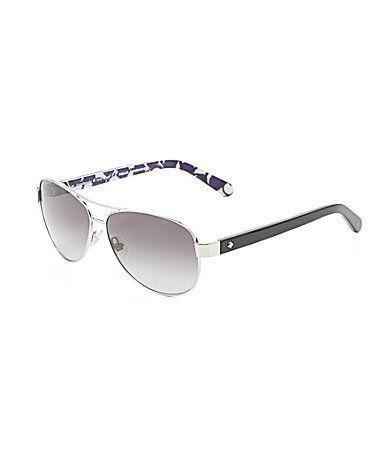 def9045ee22 kate spade new york Dalia 2 Aviator Sunglasses  Dillards ...