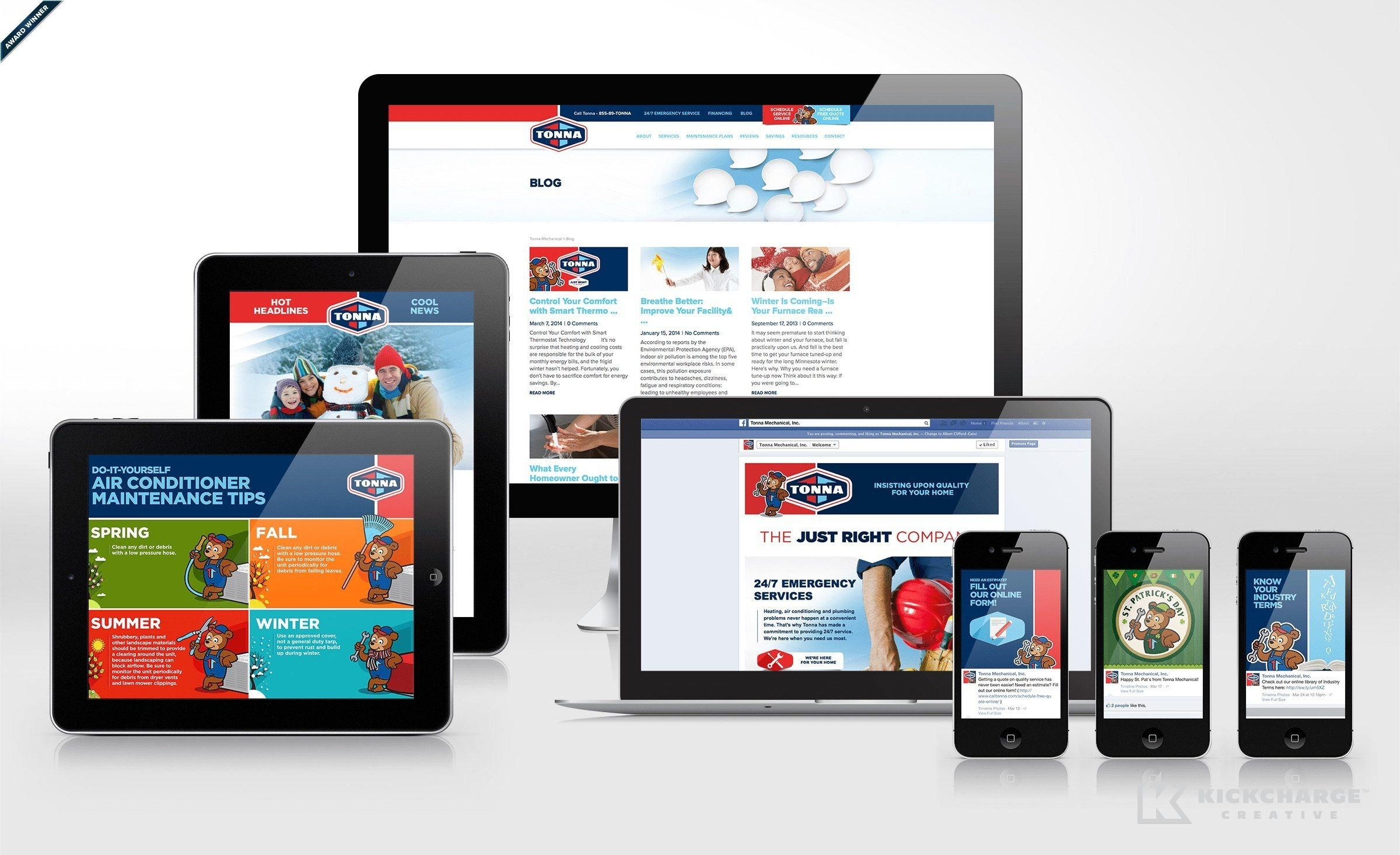 Tonna S Website Design Is Focused On Simplicity And Readability