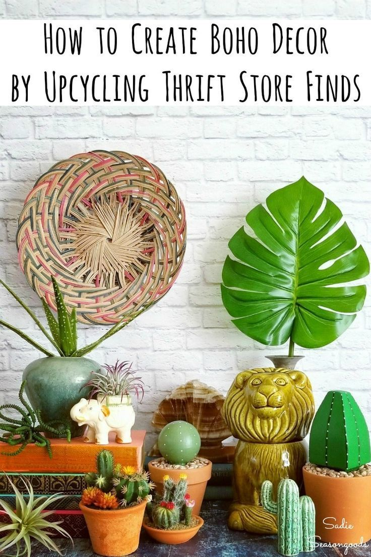 Boho Decor for a Bohemian Home from the Thrift Store (and Upcycling!)