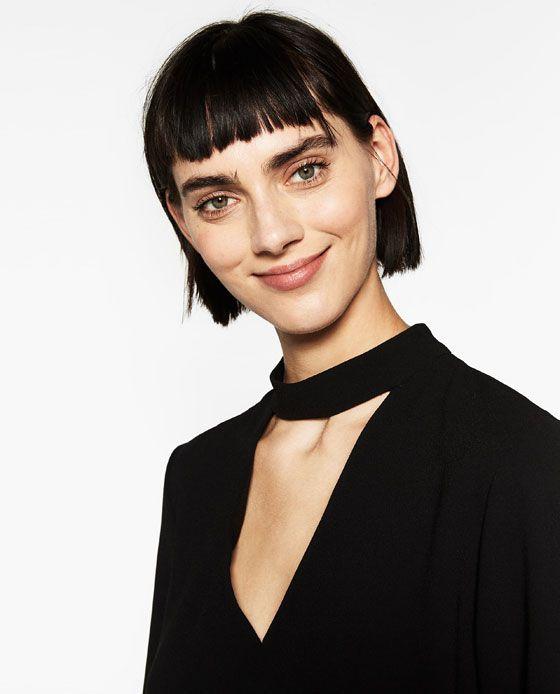 Image 6 of NECKLINE TOP WHITE STRAP from Zara