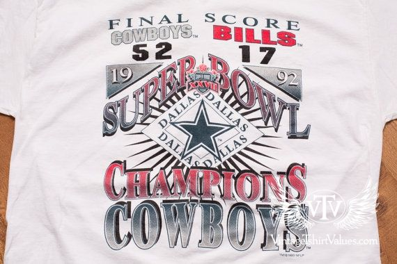 Dallas Cowboys Super Bowl XXVII Champions T-shirt c4644f6bf