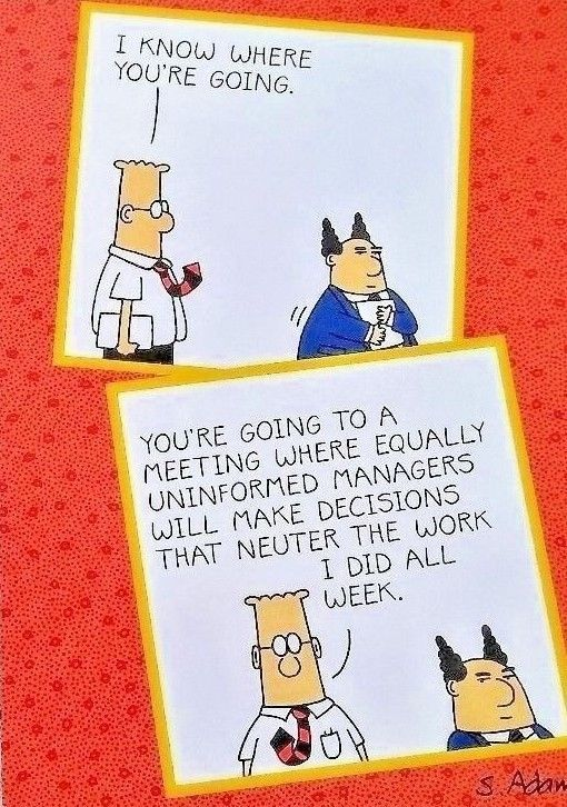 Greeting Card Birthday Dilbert Unused Comic Cartoon Pointy Haired