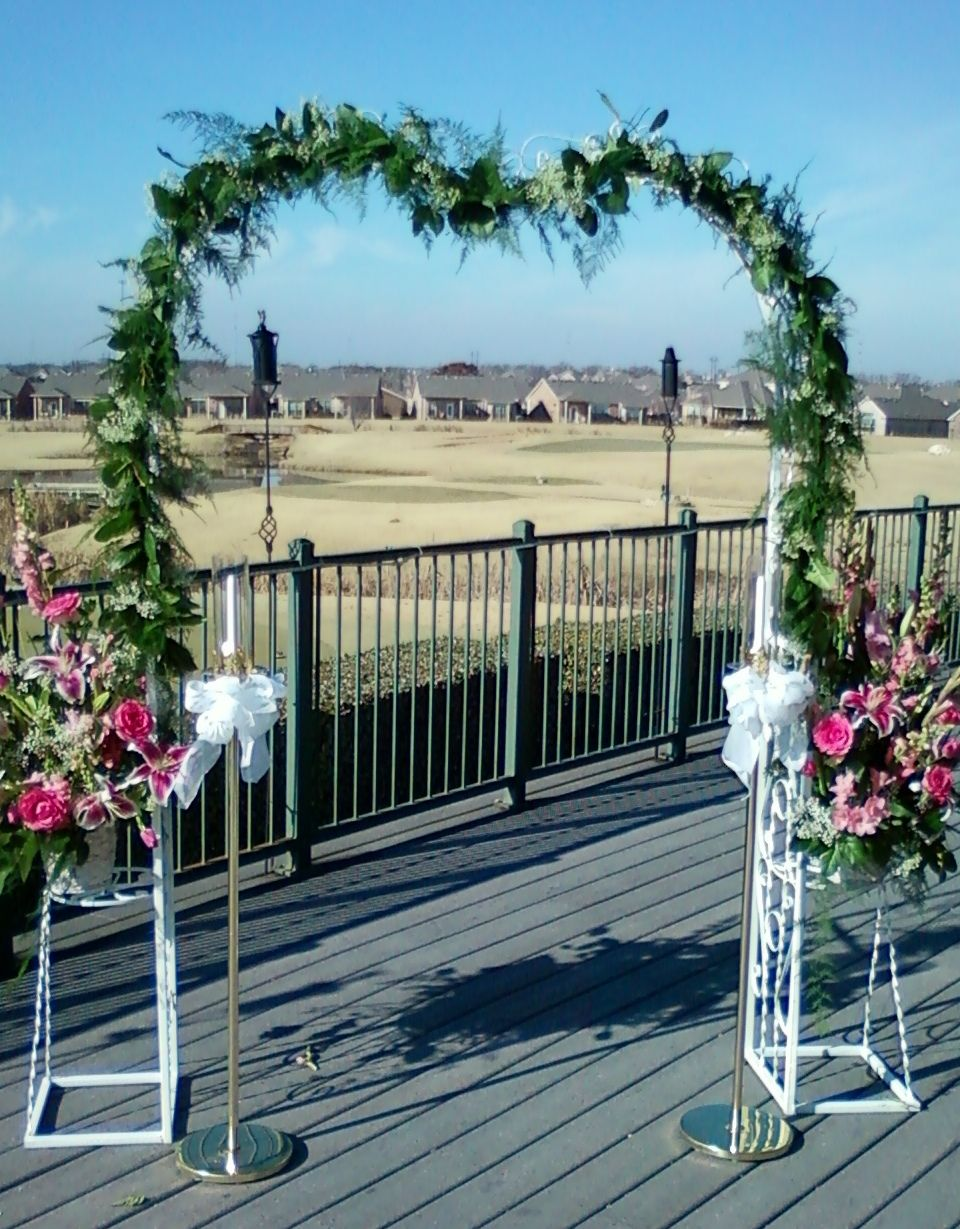 Decorated wedding arch with images trellis wedding arch