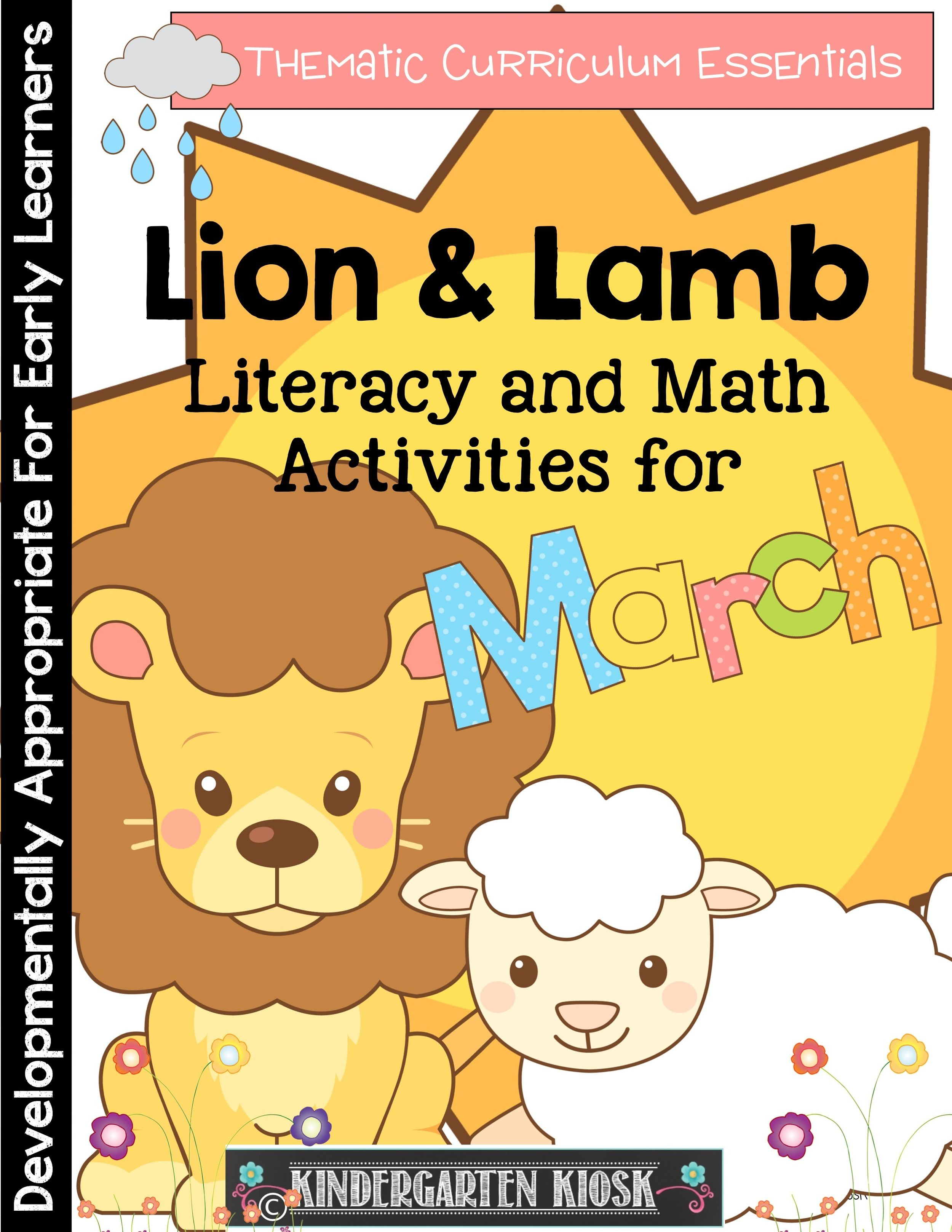 March Activities Lion And Lamb Math Literacy And More