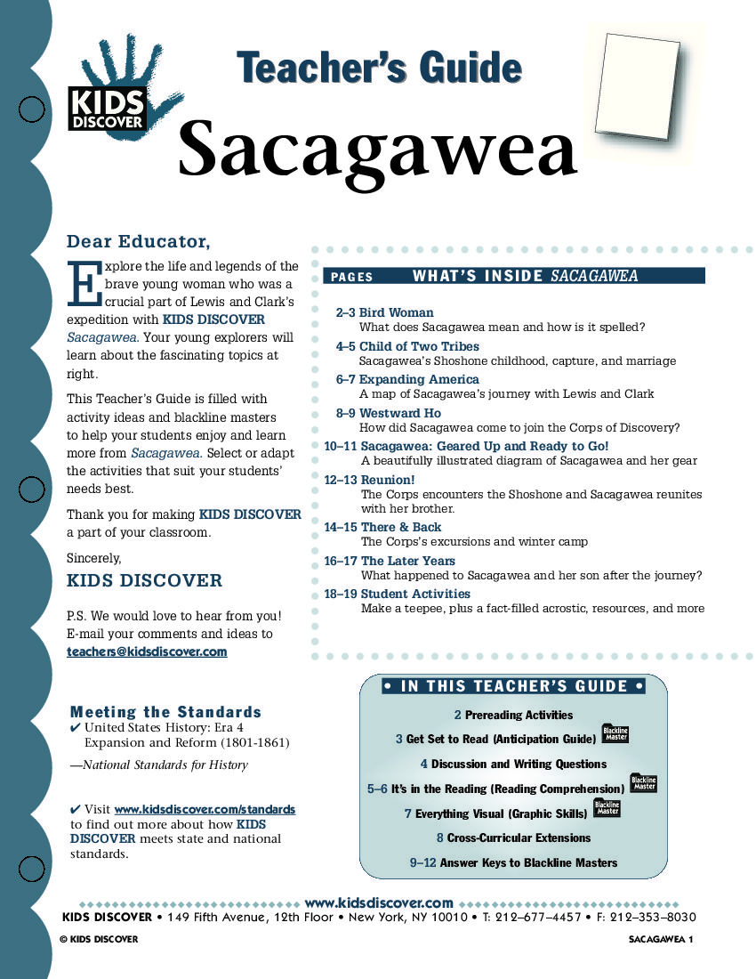 This free lesson plan for kids discover sacagawea is packed with