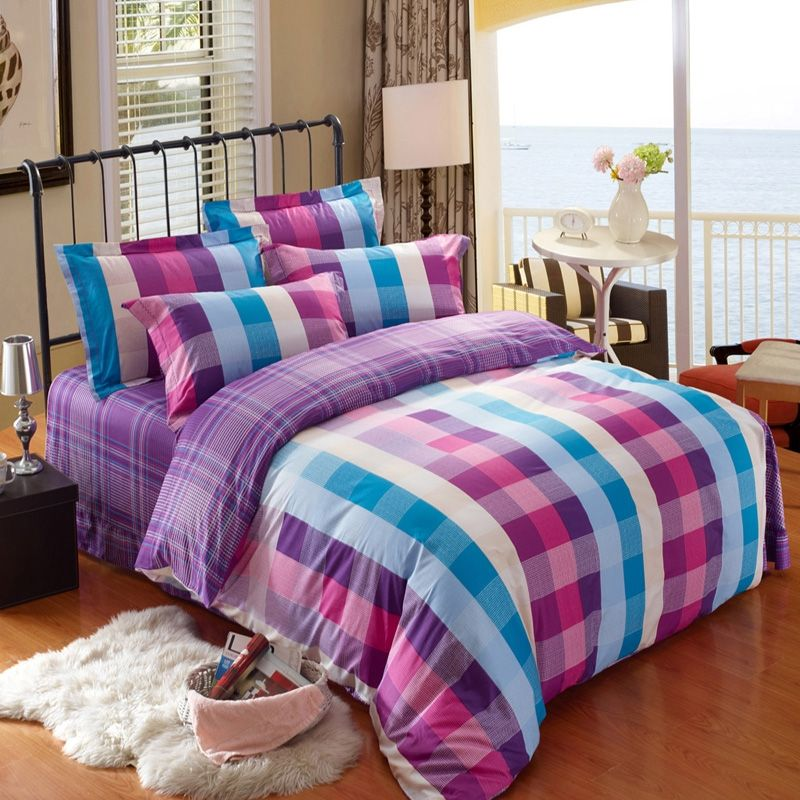 Best Luxury Full Size Plaid Bedding Sets For Girls 400 x 300