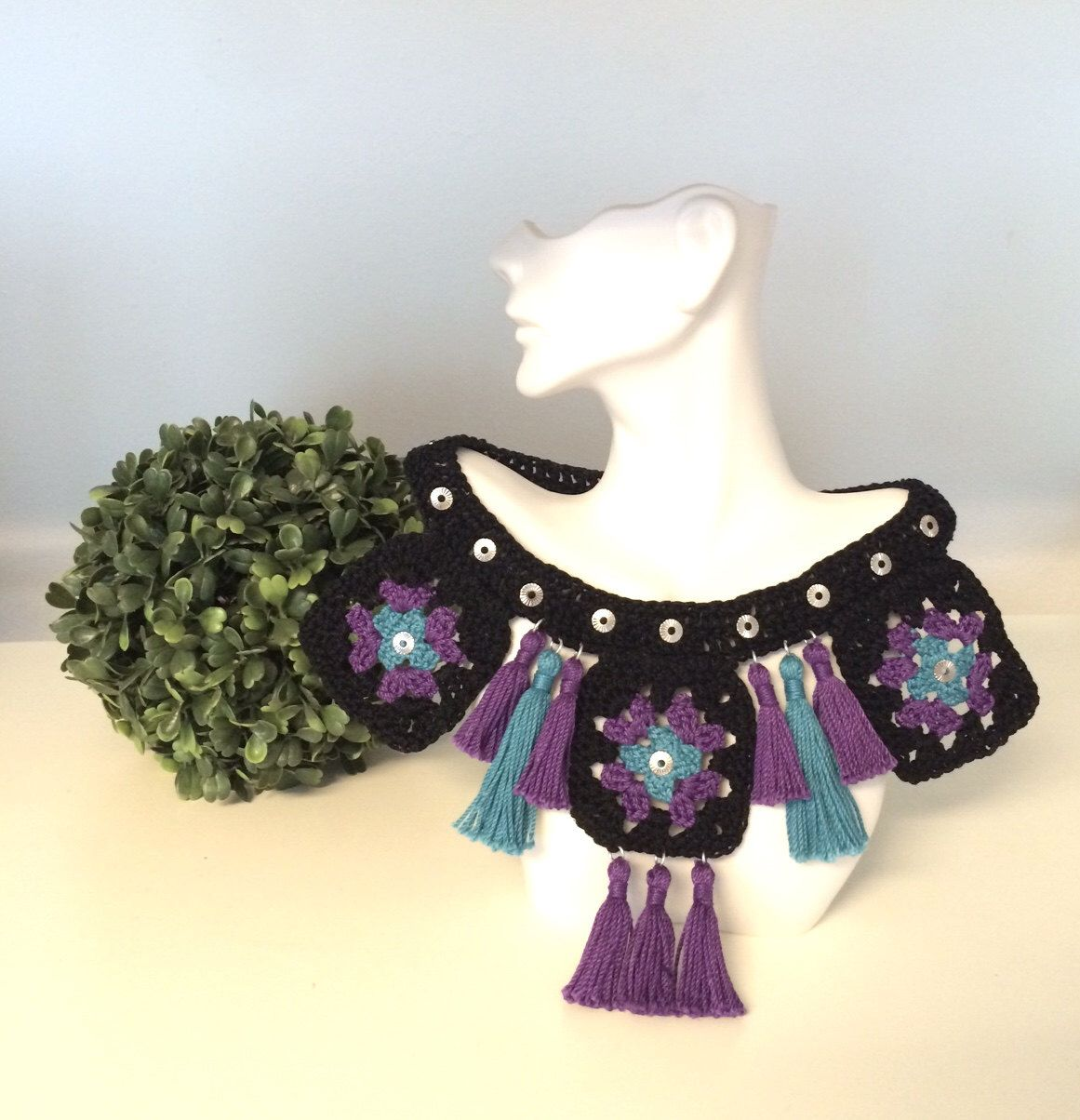 A personal favorite from my Etsy shop https://www.etsy.com/listing/465413285/anncestral-woven-necklace-crochet