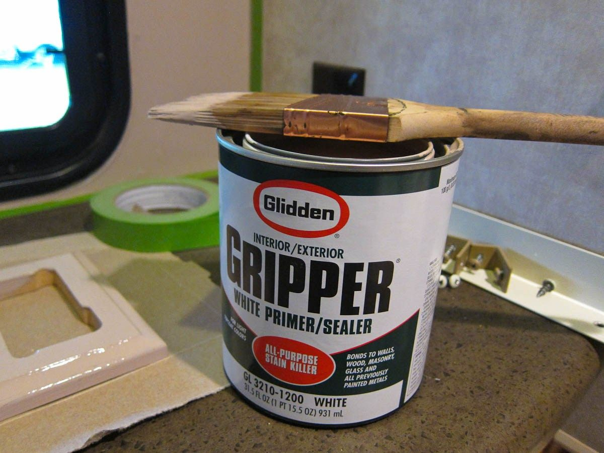 Gripper is required to paint RV walls, plastics and paper