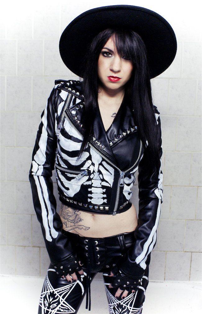 Toxic Vision Leather Skeleton Jacket