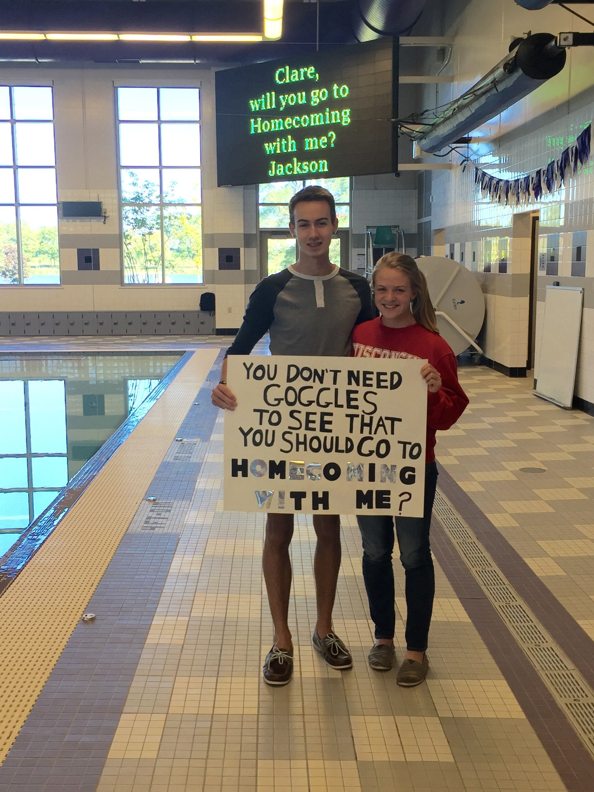 Swim homecoming proposal! #prompicturesgroup #hocoproposals