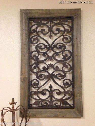 Large Metal Wood Wall Panel Antique Vintage Rustic Chic Industrial
