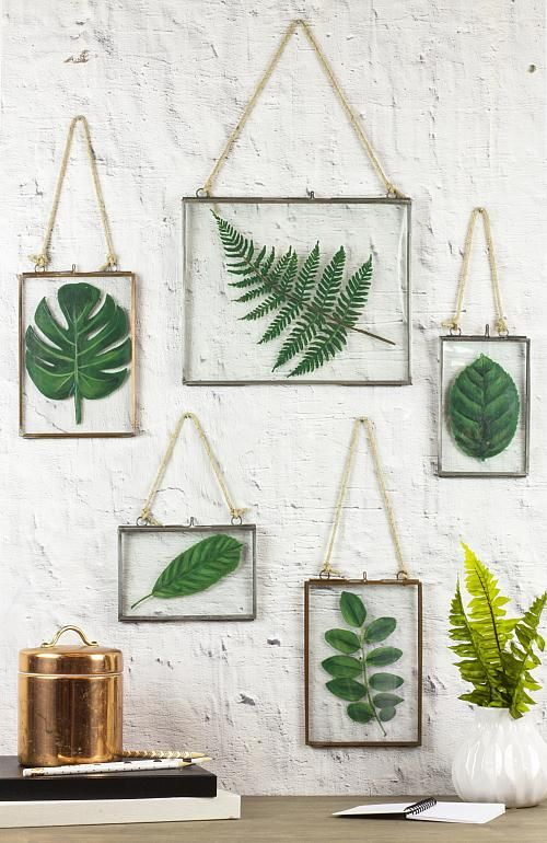 Photo of Framed Faux Pressed Leaves – Project by DecoArt