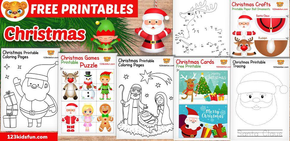 Free Christmas Printable Free christmas printables, Kids