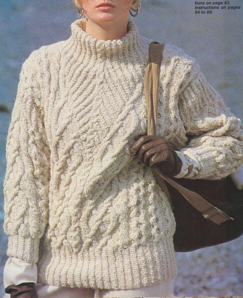 Digital Download PDF Vintage Knitting Pattern Ladies Women ...