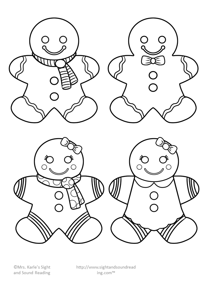 Resource image in printable gingerbread men