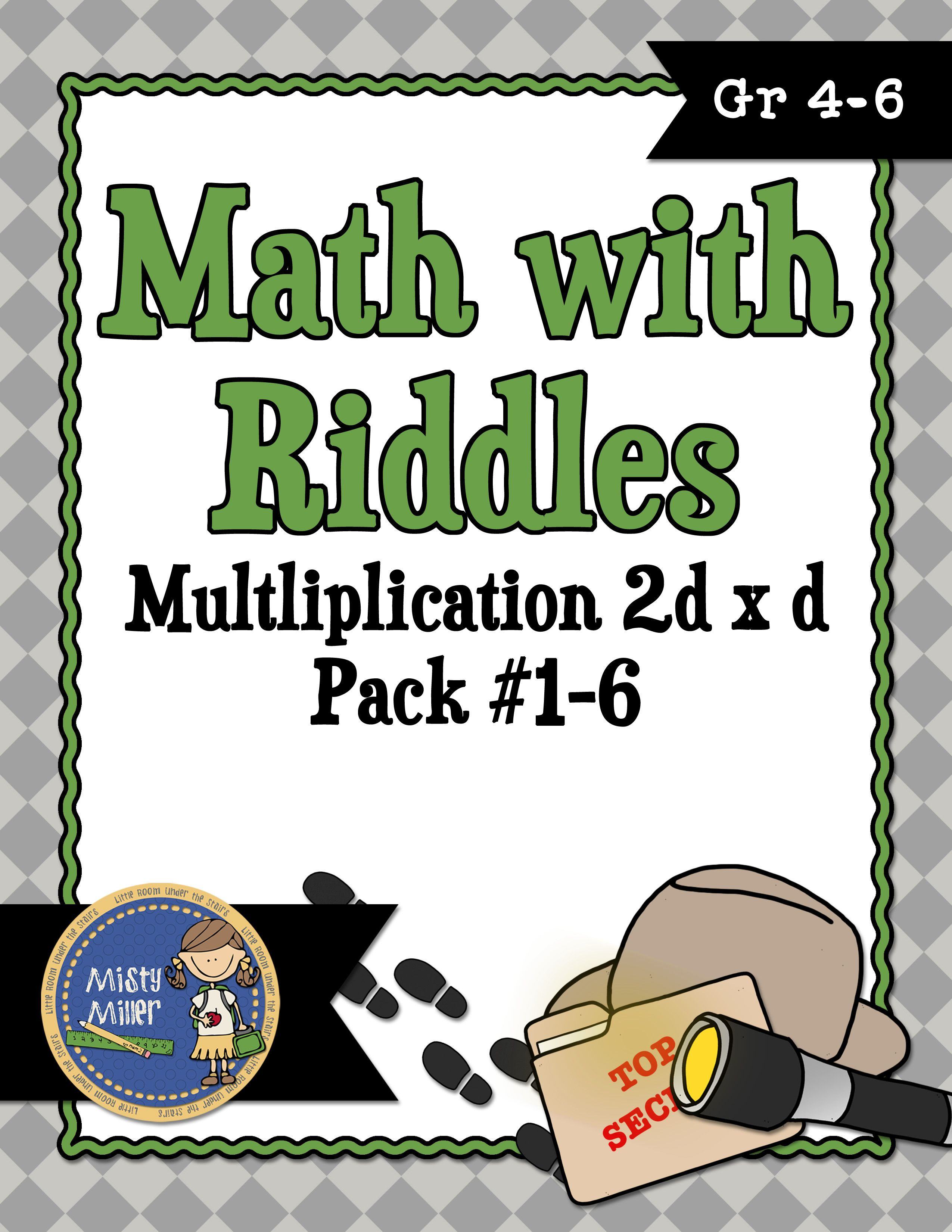 Multiplication 2 Digit X 1 Digit Math With Riddles Pack 1