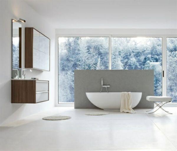 ideen badewanne tageslicht minimalistische badezimmer Wohnen - ideen für badezimmer