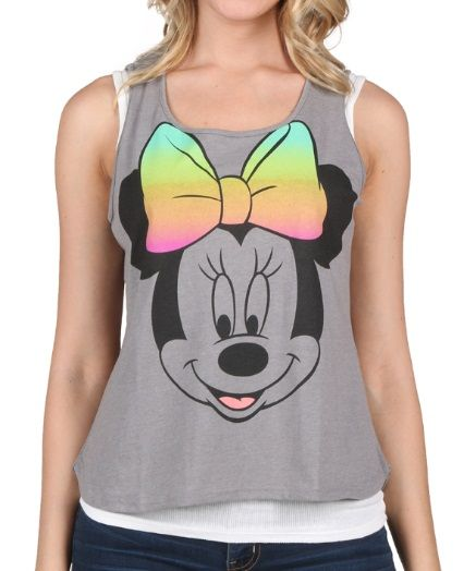 646ef9e0 Womens Minnie Ombre Bow Tank Top | Disney Obsessed | Bow tank tops ...