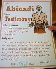 This LDS Mom Scripture Heroes Abinadi Maybe Have Leaders Dress Normally Give Details Of Each Heros Life Without Names Use Modern Terminology