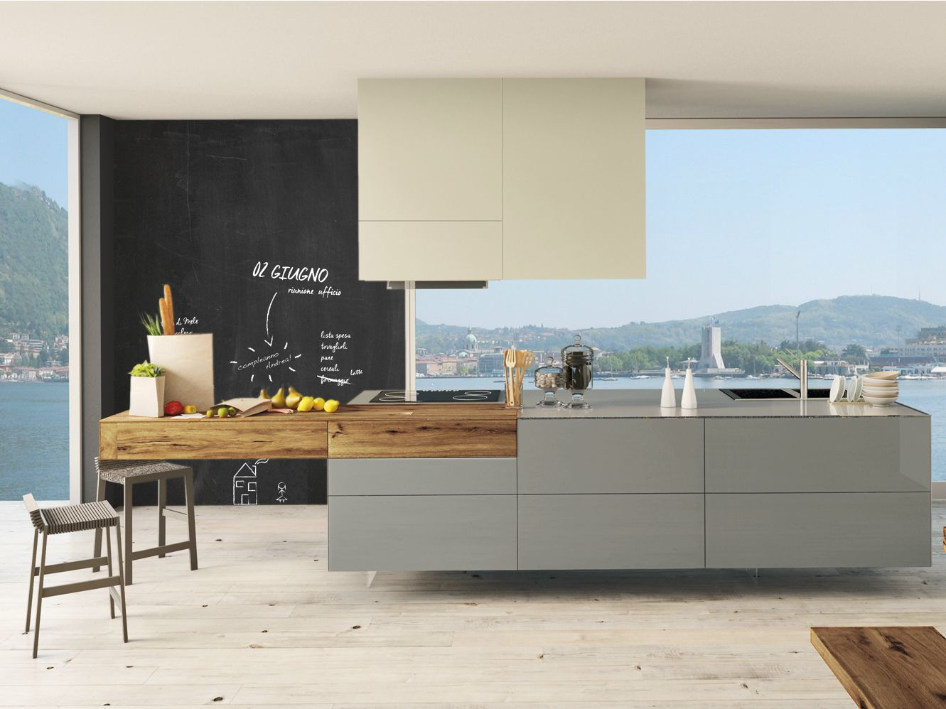 Lackierte küche mit kücheninsel 36e8 wildwood küche mit kücheninsel lago
