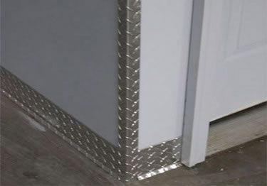 Diamond Plate Wall Corner Guards Plates On Wall Diamond Plate Base Moulding