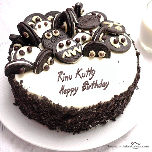 The Name Rinu Kutty Is Generated On Happy Birthday Images