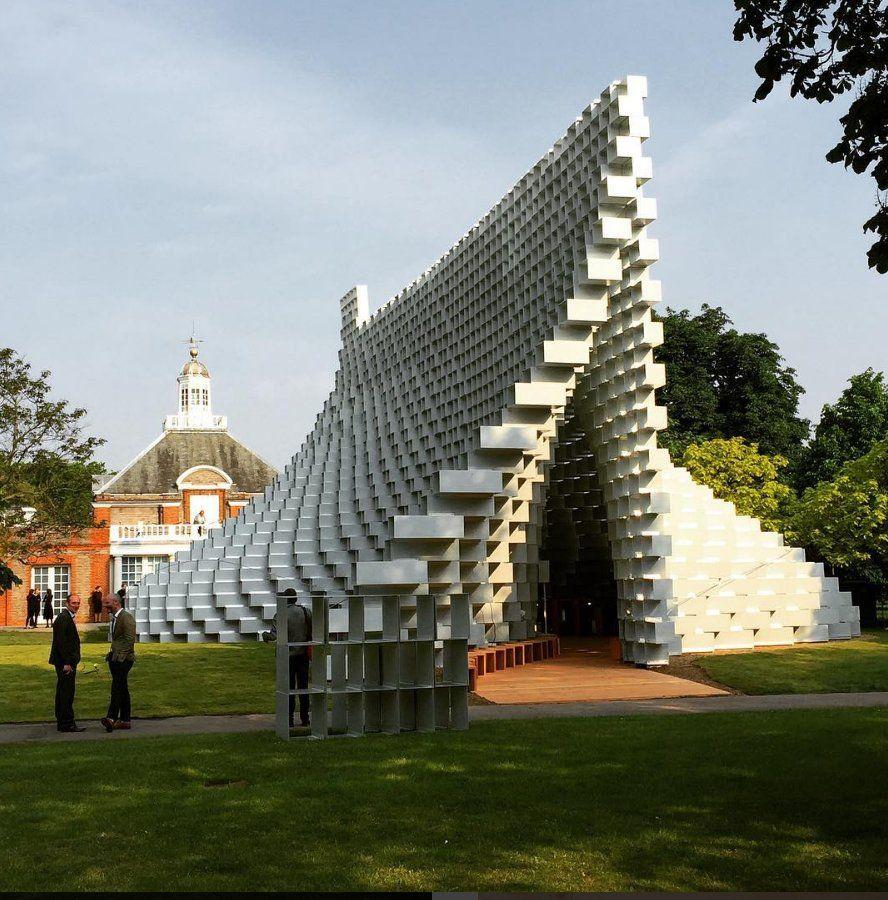 We Re Broadcasting Live From Big S Serpentine Gallery Pavilion On Facebook Architektur Pavillon Architektur Serpentine Gallery Pavilion